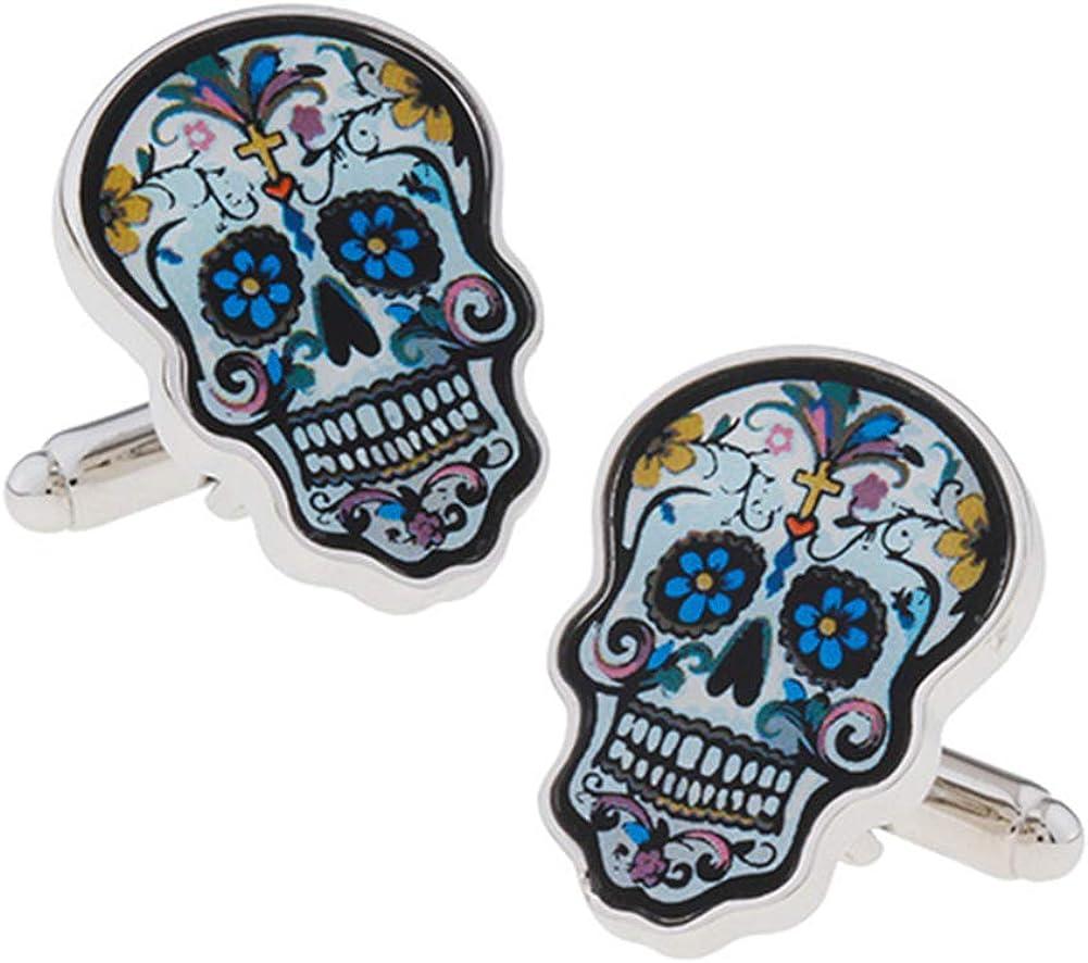 Day of The Dead Skull Cuff Super-cheap Links Cufflinks Shirt Manufacturer OFFicial shop