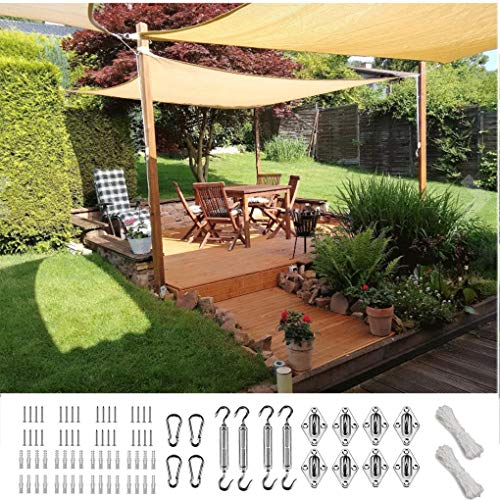 XXJF Vela De Sombra De Sombra Toldo Protección Rayos UV Toldo Vela Resistente E Lmpermeable,toldo Vela De Patio Exteriores Jardín Exteriores, Jardín, (Color : Sand, tamaño : 5x6.5m)