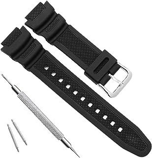 OliBoPo Waterproof Natural Resin Replacement Watch Band for Casio AQ- S800W SGW-300H MRW-200H AE-1200 W-800H W-735H