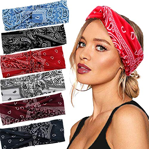 Bangful Stirnband Damen Haarband Damen Haarschmuck Haarbänder Vintage Knoten Bandana Haartuch Kopfband Turban Mädchen Haarreifen Damen Haarband Mädchen