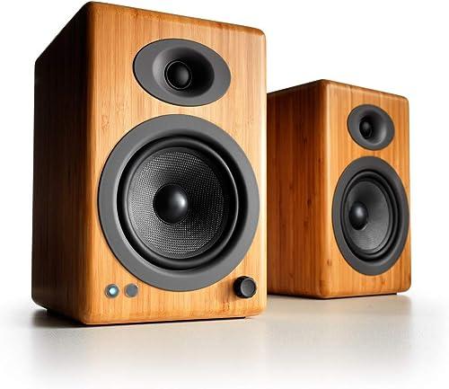 Audioengine A5+ 150W Altavoces Activos de Estantería Inalámbricos | Amplificador Analógico Incorporado | aptX HD Blue...