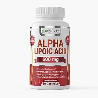 BioGanix Cardiosvascular Supplement with Alpha Lipoic Acid for Adults, 600mg, 60 Capsules