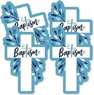 Baptism Blue Elegant Cross - Decorations DIY Boy Religious Party Essentials - Set of 20