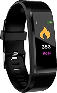 HUG PUPPY ID115 Plus Bluetooth Smart Fitness Band Watch for Men/Women with Heart Rate Activity Tracker Waterproof Body 1Pc...