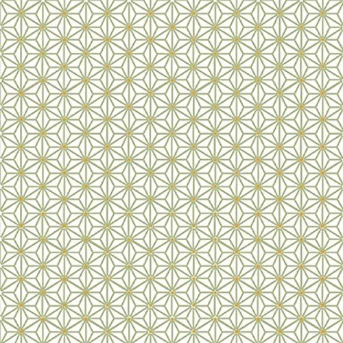 CasaJame Set di 40 (2 Confezioni da 20 Pezzi cad) Tovaglioli in Carta Monouso 3 Strati Veli 33x33cm Colore Cachi Motivo Fantasia Geometrica