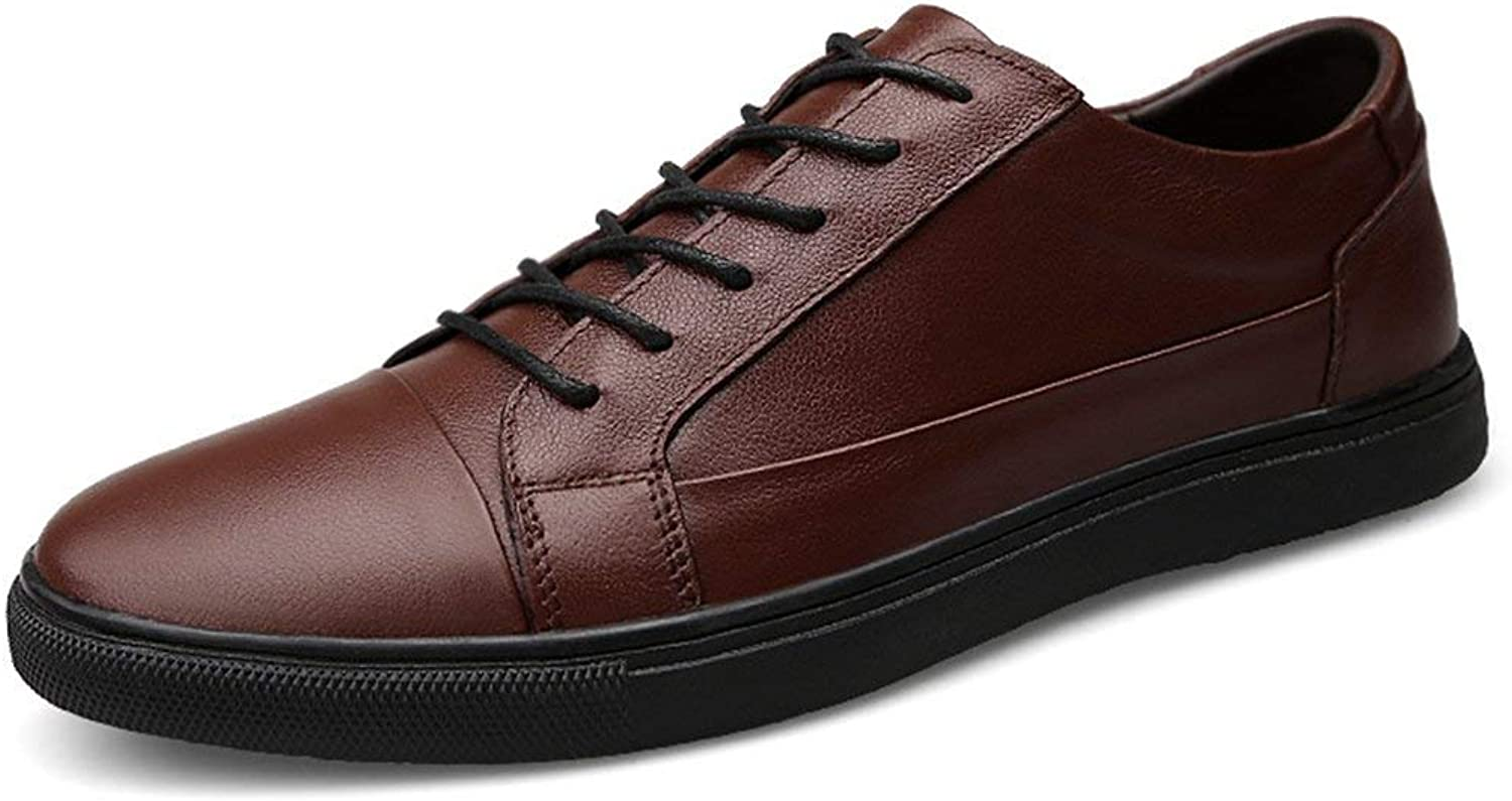 ZHRUI Lightweight Soft Sole Basic Sneakers for Men (color   Brown, Size   8 UK)