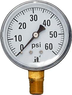 Zenport DPG60 Zen-Tek Dry Air Pressure Gauge, 60 PSI