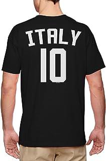 Italy Football Jersey - Forza Italia National Soccer Men`s T-Shirt