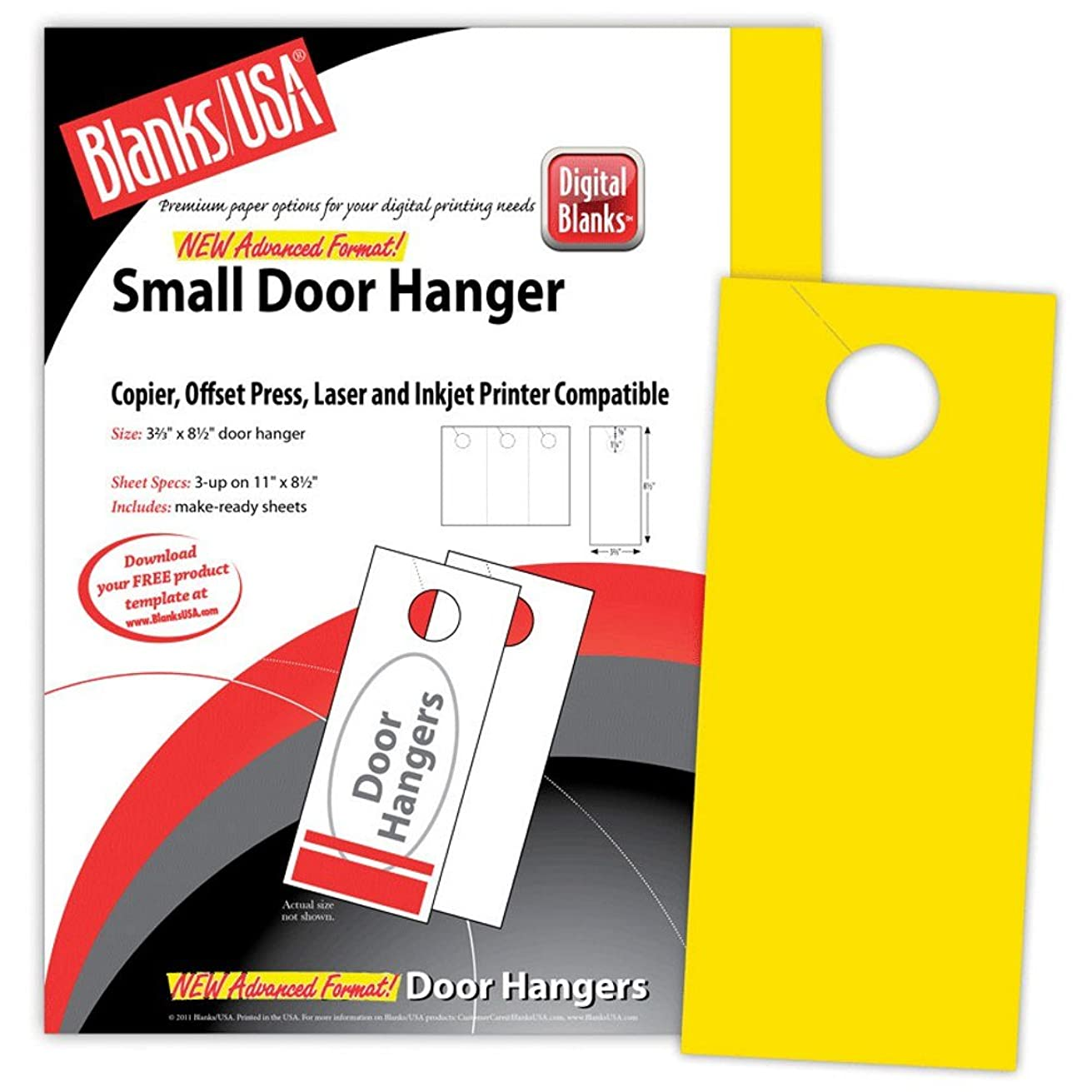 Yellow Small Door Hangers - Pack of 150
