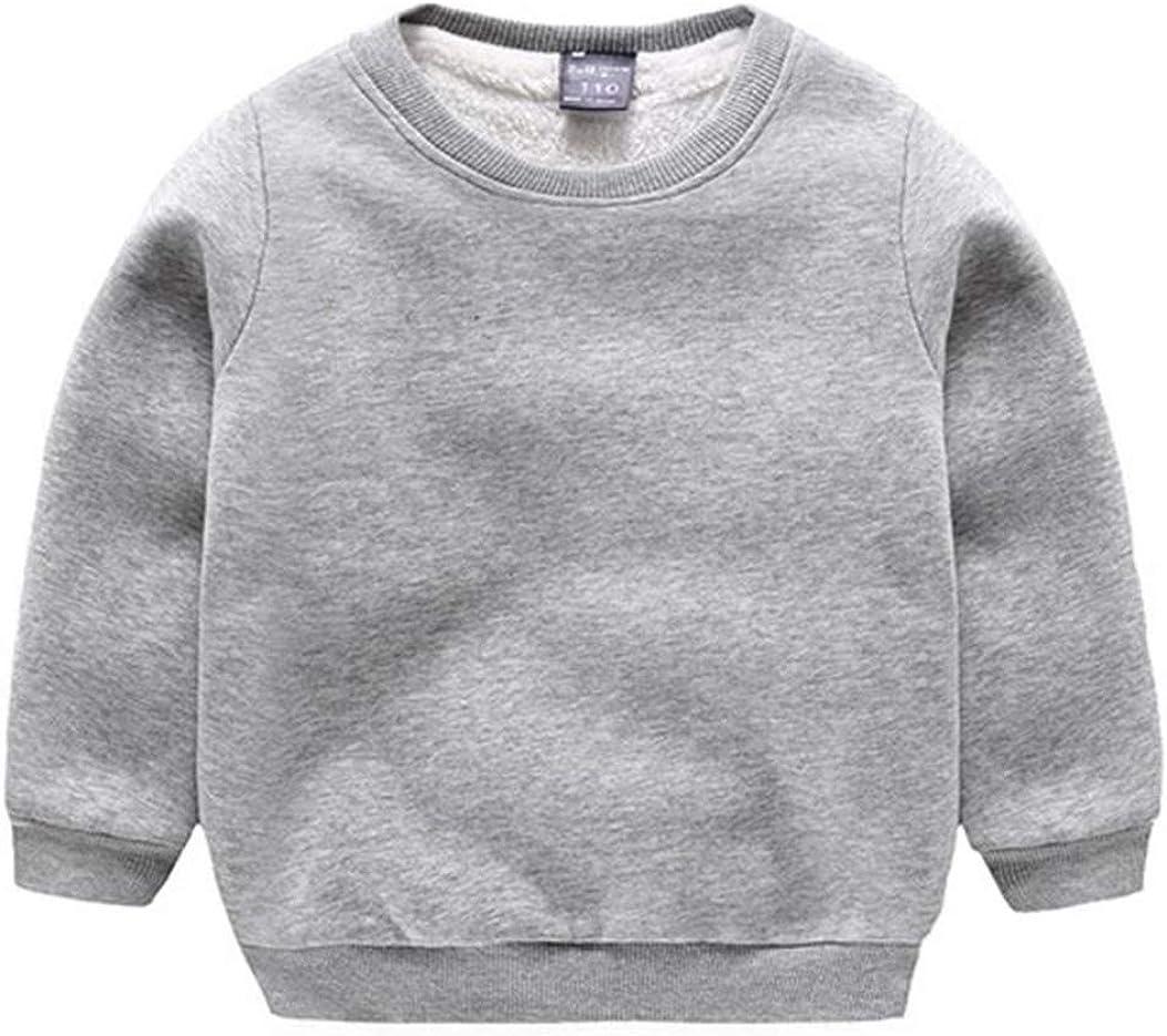 CuteOn Baby Boy's Girl's Crewneck Cotton Long Sleeve Winter Fleeced-Lined Sweatershirt