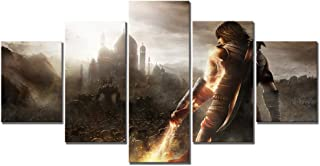 WSJXY 5 Piece Wall Art Canvas Painting Canvas Printed Poster 5 Pcs Prince of Persia The Forgotten Sands Video Game HD Picture Home Decoration Wall Art Framed