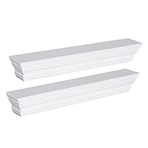 Astounding White Wooden Shelves Amazon Co Uk Beutiful Home Inspiration Ommitmahrainfo