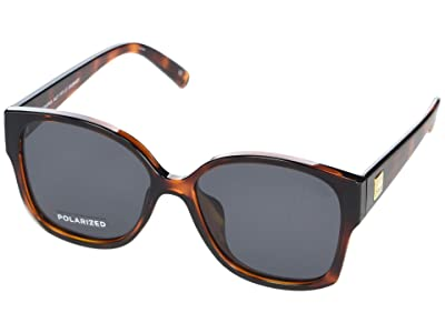Le Specs Athena Alt Fit (Toffee Tortoise/Smoke Mono Polarized) Fashion Sunglasses