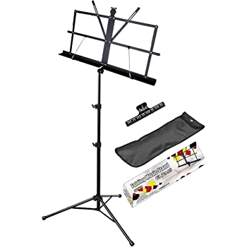GLEAM Professional Folding Music Stand - Gift Choice Wider Shelf Bolder Pipe