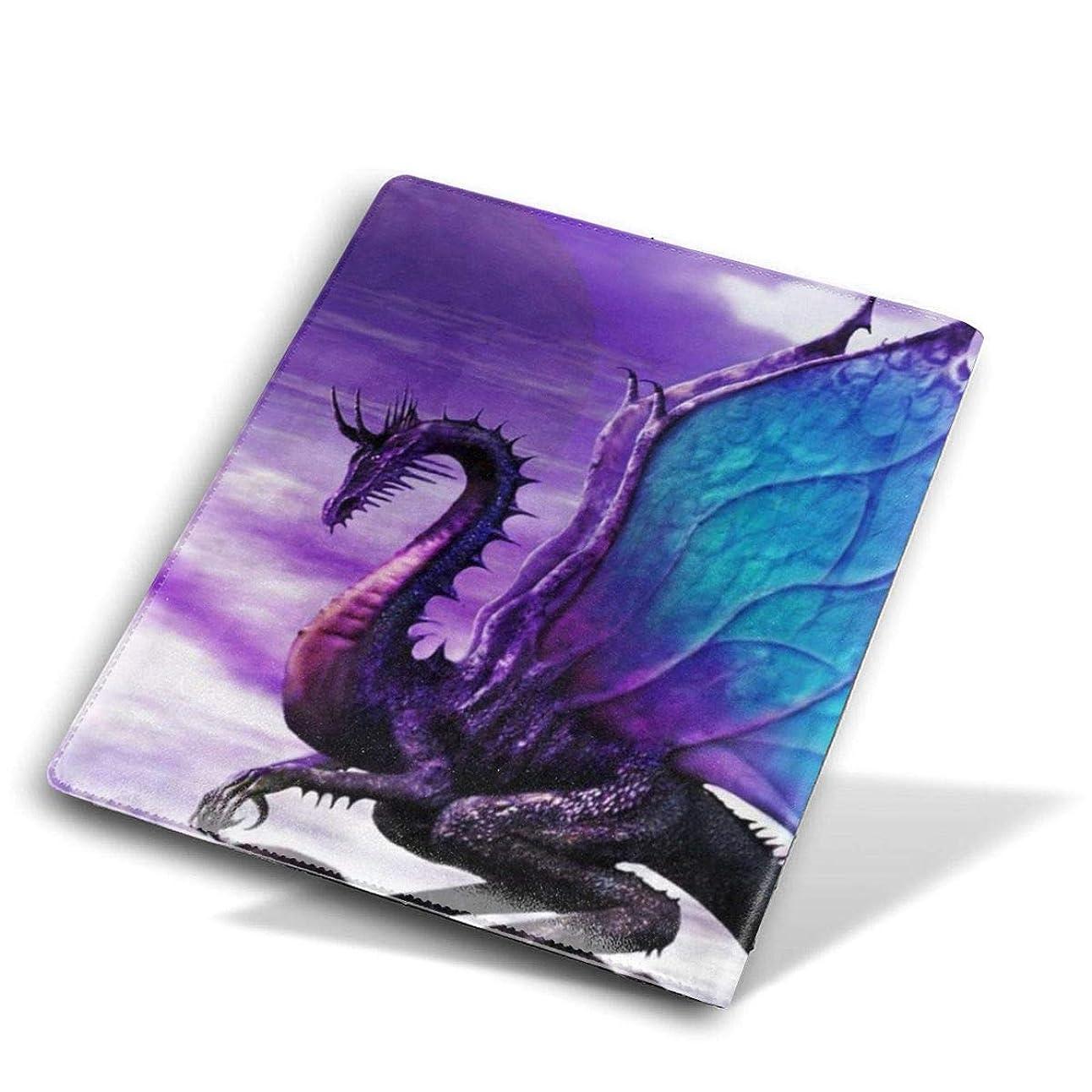 不実薬局トマトBook Cover ブックカバー 防水 PUレザー(ノートブック用)プリント ヴィンテージ Size 28*51 Cm パープルドラゴン