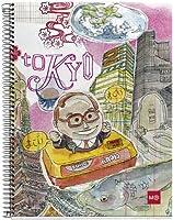 """Miquelrius """"Lapin Cities"""" リサイクル段ボールスパイラル綴じノート 東京(6.5インチ x 8インチ、4科目、大学罫線)"""