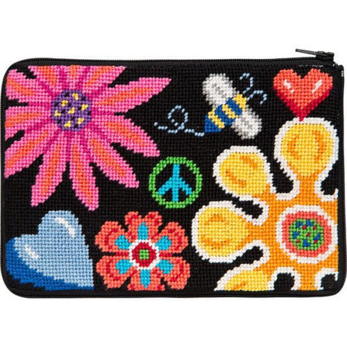 Stitch & Zip Needlepoint Geldbörse Kit - Fun Floral