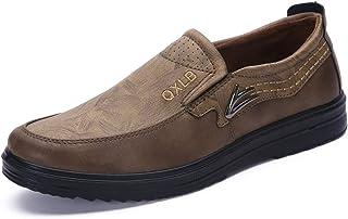 Mocassins Hommes Cuir Bateau Chaussures Chaussons Respirant Casual Mode Ville Conduite d'affaires Oxford