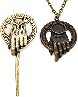 Hand of The King Pin Brooch Replica,GOT Themed Pendant Necklace
