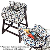 Croc n frog 2-in-1 Shopping Cart Covers for baby and High Chair Cover - Medium size
