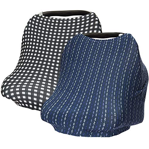 Simple Being 2 Pack Car Seat Covers for Baby Carseat Canopy Nursing Cover...