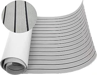 "Best Happy yacht 94.5""× 35.4"" EVA Foam Boat Decking Sheet Faux Teak Decking Self-Adhesive Marine Yacht RV Swimming Pool Boat Flooring Sheet Thick Non-Skid Review"