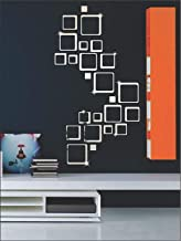 Wall1ders Atulya Arts (Pack of 10) 3D Butterfly Acrylic Wall Sticker - Square Silver (2 Set of Pack of 12)