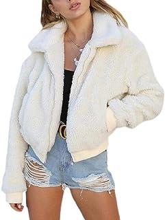 Women's Classic Fit Faux Fur Coat Faux Fleece Jacket Shaggy Shearling Jacket Outwear