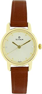 Titan Ladies Watch Brown Leather Belt