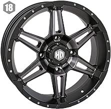 STI 14-19 Polaris RANRZR1000XE HD7 Wheel (Front/Rear / 14x7 4/156 4+3) (Matte Black/Smoke)
