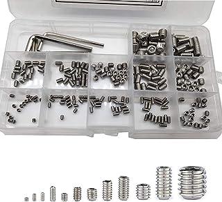 Acero Inoxidable KARAA 1110 piezas M3 Juego de Tornillos y Tuercas con llave Allen Arandelas M3 Pernos Hexagonales Juego de Tornillos
