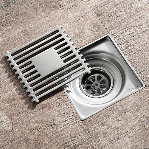 WHR-HARP Anti Geruch Bodenablauf, Duschablauf Badezimmerboden Linearer Ablauf Edelstahl-Siphon-Abfallschlitzentwässerung für Küche, Waschraum, Garage und Keller
