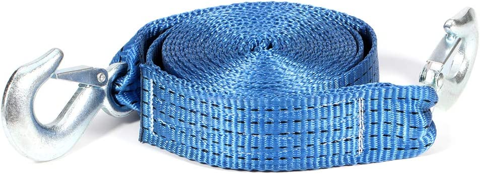 Tow Strap Blue with 10000 NEW before selling ☆ LBs 16ft Free Shipping New Axle wi 2 Inch Capacity