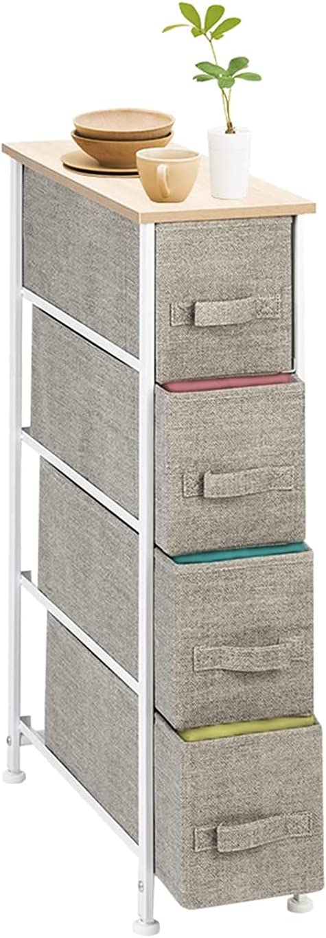 Ostensible Narrow Dresser Cash special price Vertical Sale SALE% OFF Storage 4 Unit With Fabric D
