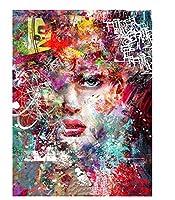 番号によるDIY油絵キャンバスに描く女性番号による着色ポートレートキットモダンウォールアートワーク 40 * 50 cm(フレームなし)