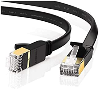 LC7480 EDIMAX Flat 20M Black Cat7 Patch Lead 10Gbe Edimax 20M in Length, Rj45 Connectors Prevent Cable Damage and Also Pro...