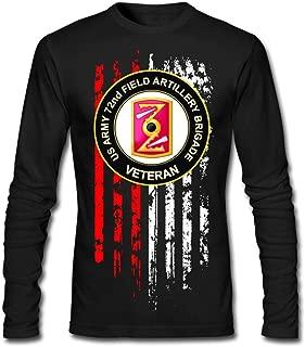 PROUDAD Men's US Army 72nd Field Artillery Brigade Veteran Long-Sleeve Cotton T-Shirt