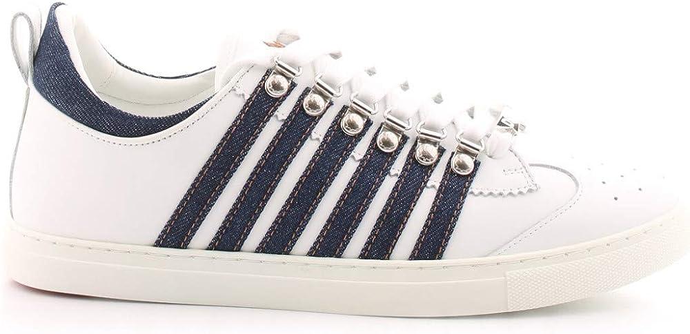 Dsquared2 scarpe sneakers per uomo in pelle SNM014701501575M328