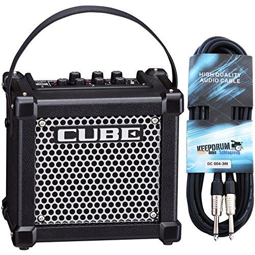 Roland Micro Cube GX amplificatore per chitarra Chitarra keepdrum cavo 3m, nero
