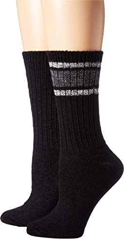 Marled Stripe Boot Socks 2-Pair Pack
