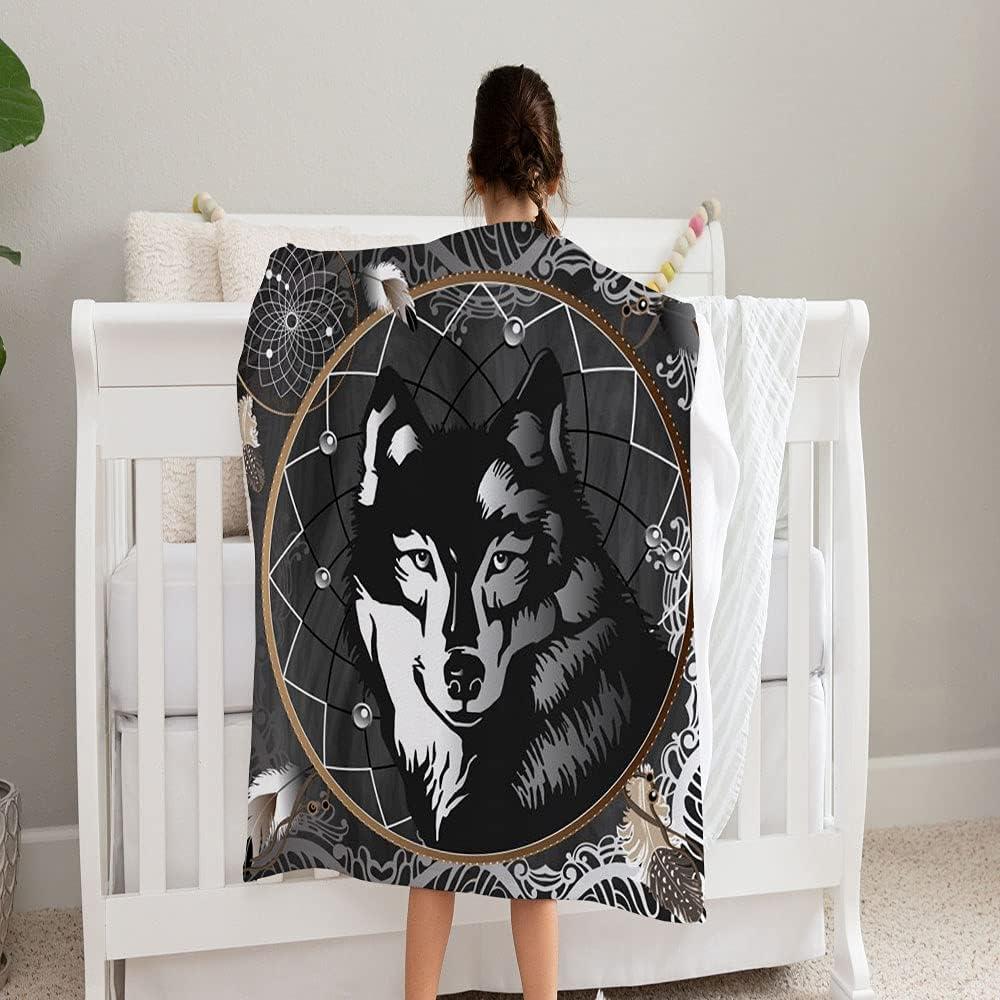 LPVLUX Graphic Max 67% OFF Max 53% OFF Wolf Center Dreamcatcher Chalkboard Blanket S On