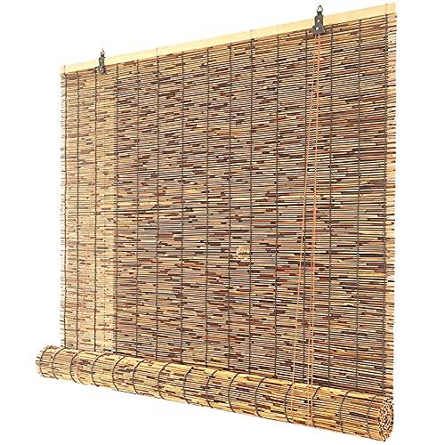 KJHGMNB Tenda a Rullo Bamboo, Veneziana per finestre, Tapparella Avvolgibile bambù, Tenda Bamboo, Tenda Veneziana, Traspirante, per Esterno o Interno (90x160cm/36x63in),140x230cm/55x91in