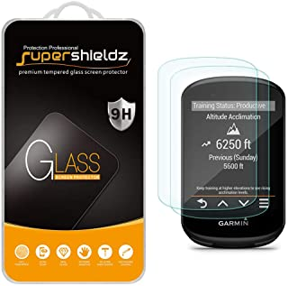 (2 Pack) Supershieldz Designed for Garmin Edge 530 and Edge 830 Tempered Glass Screen Protector, 0.33mm, Anti Scratch, Bub...