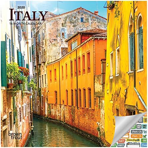 Italy Calendar 2020 Set - Deluxe 2020 Italia Mini Calendar with Over 100 Calendar Stickers (Italy Gifts, Office Supplies)