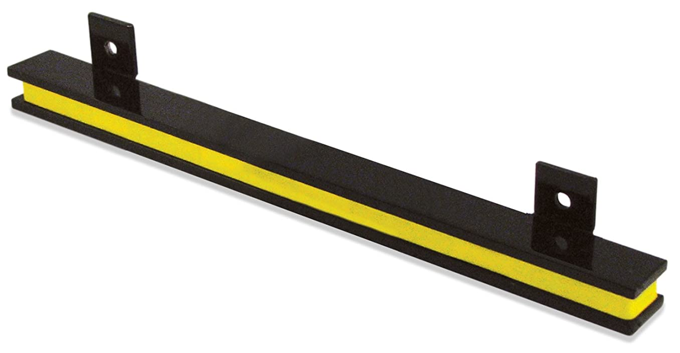 """13"""" Heavy-Duty Magnetic Tool Holder, Easy-Install, 20-lb per inch Pull Force, Black Powder Coat with Yellow Stripe (AM2PLC)"""