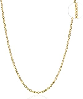 """18K Solid Yellow Gold 2mm Thick Cable Link Chain Necklace 16"""" 18"""" 20"""" 22"""" 24"""""""