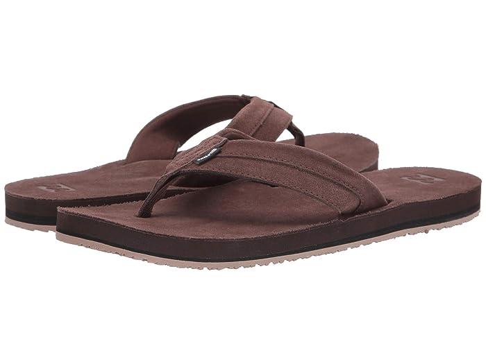 Billabong  All Day Leather (Dark Brown 2) Mens Sandals