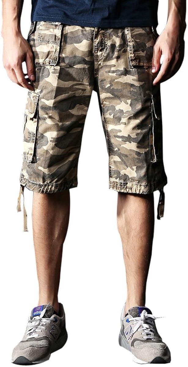 Ding Dong Mens Casual Pocket Cargo Shorts
