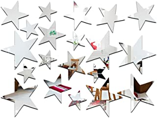 Mirror Wall Stickers-Children's Room Decoration Wall Stickers, Star Shaped Environmental Mirror Wall Stickers, Home Decora...
