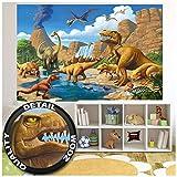 GREAT ART XXL Poster Kinderzimmer – Abenteuer Dinosaurier